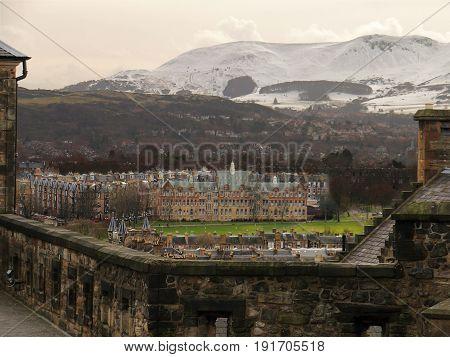 Snow Covered Pentland Hills From Edinburgh, Scotland