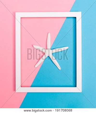 Starfish And Frame On A Bright Background