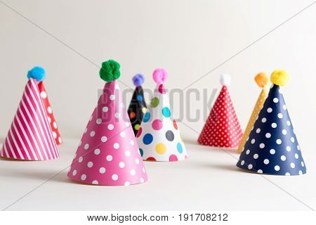 Party Hats On An Off White Background