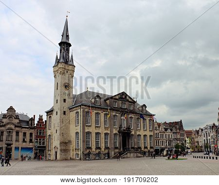 Mid Town Square and City Hall in Lier, Belgium