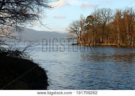 Loch Lomond And The River Leven In Balloch, Scotland