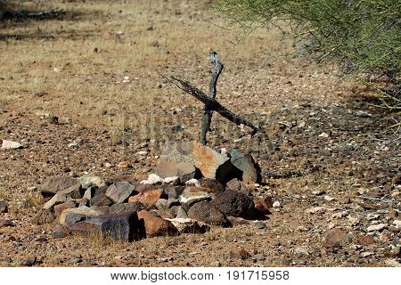 Rock Pile Grave in Sonoran Desert near Phoenix, Arizona