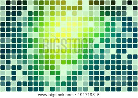 Bright Yellow Green Occasional Opacity Mosaic Over White