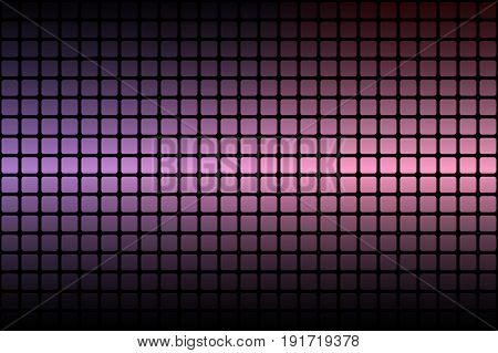 Purple Blue Pink Abstract Rounded Mosaic Background Over Black