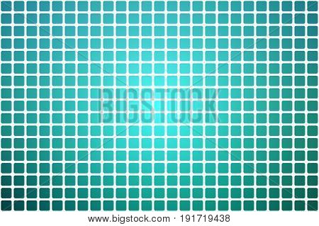 Turquoise Shades Abstract Rounded Mosaic Background Over White