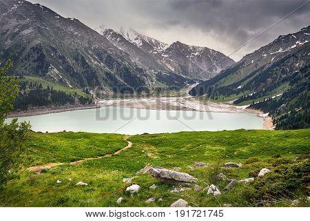 Beautiful Landscape Of Mountain Lake
