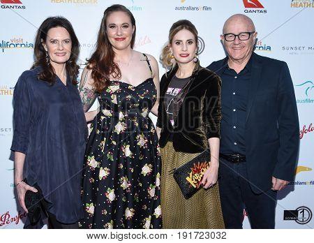 LOS ANGELES - JUN 01:  Sally Bell, Ashleigh Bell, Kate Ledger and Kim Ledger arrives for the 9th Annual Heath Ledger Scholarship Dinner on June 1, 2017 in West Hollywood, CA
