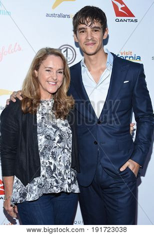 LOS ANGELES - JUN 01:  Brenton Thwaites and Fiona Thwaites arrives for the 9th Annual Heath Ledger Scholarship Dinner on June 1, 2017 in West Hollywood, CA