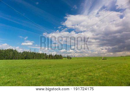 Field Landscape Nobody Outside