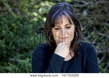 Middle Aged Woman Contemplating