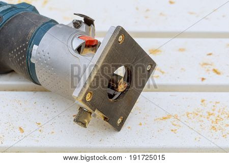 tools for wood Router base plate and bit