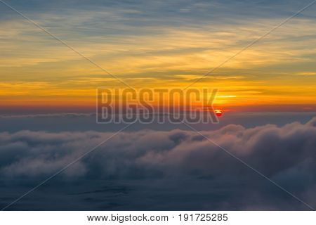 Landscape Of Sunset On Mountain Valley At Doi Luang Chiang Dao, Chiangmai Thailand