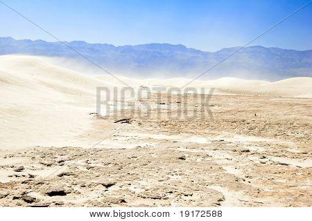 White sand dunes, Death Valley, California