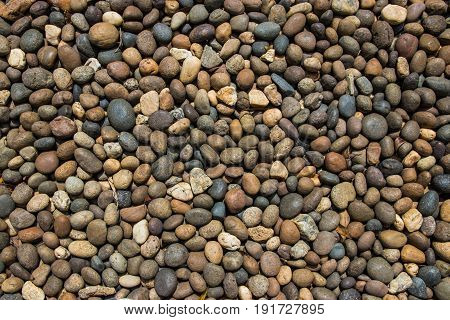 brown black and white stone pattern in the garden