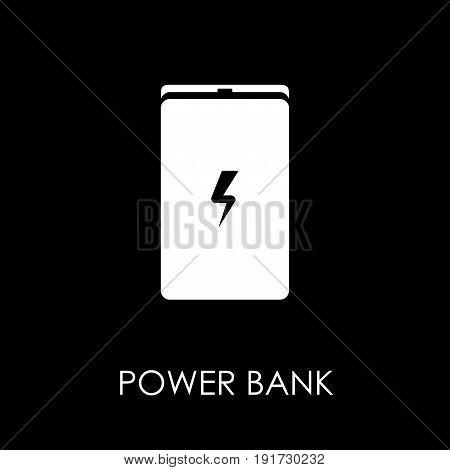 Power Bank Icon Symbol Flat Style Vector Illustration