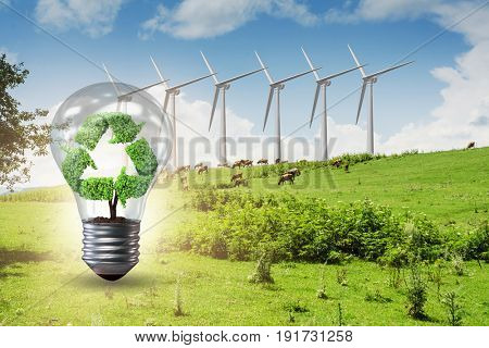 Alternative energy concept with windmills