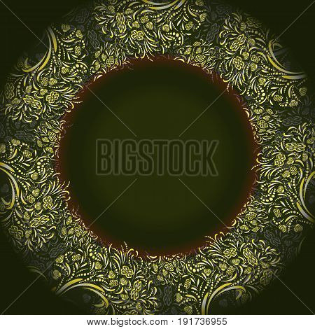 Vector dark green template for greeting card, invatation