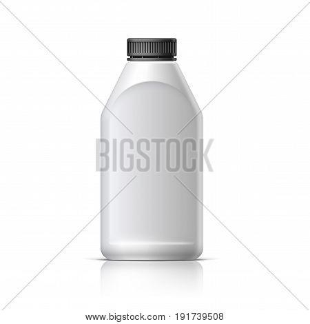 Blank bottle Realistic on white background. Mock Up Template. Vector illustration