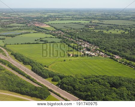 Aerial view of Takeley Essex England UK