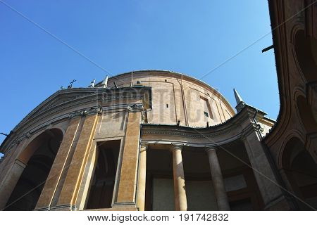 Sanctuary Of The Madonna Di San Luca, Antique Church On The Hill Of Bologna