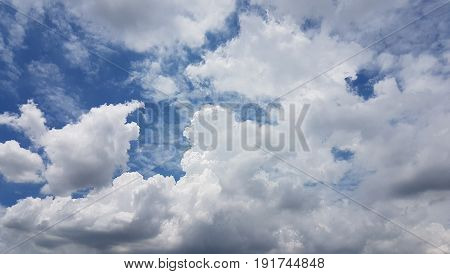 The White Clouds In Fresh Blue Sky