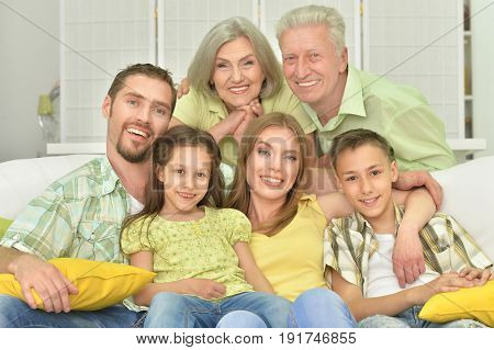 Portrait of a big family three generations
