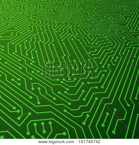 Electric scheme vector background. Circuit board components concept. Illustration of circuit board background