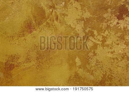 Golden brown texture background canvas. Copy space. Horizontal