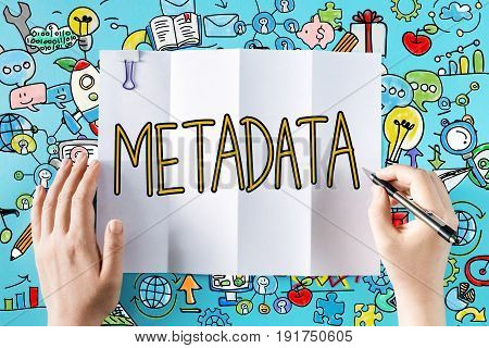 Metadata Text With Hands