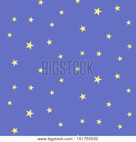 Cosmos seamless pattern. Vector night sky illustration with stars on the blue background
