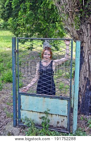 Girl On The Iron Gate