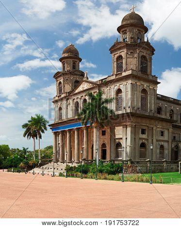 Main Square In Managua