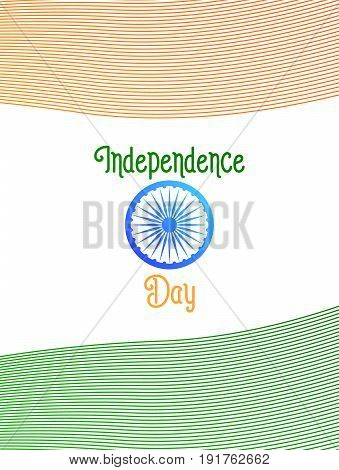 Independence Day of India. Flyer, card, poster, banner for India National holidays. 15th of August India holiday.
