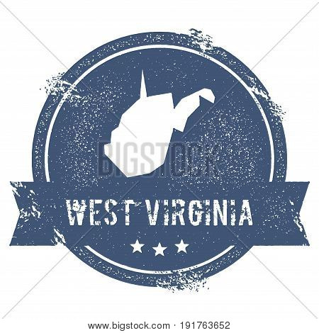 West Virginia Mark. Travel Rubber Stamp With The Name And Map Of West Virginia, Vector Illustration.
