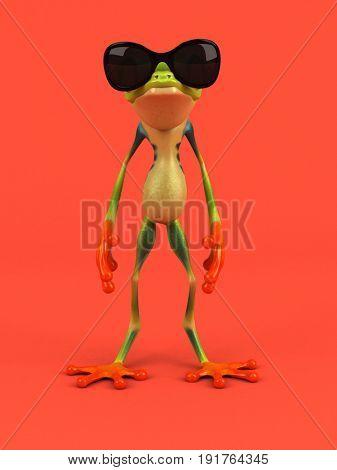 Cartoon frog - 3D Illustration
