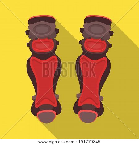 Protective knee pads. Baseball single icon in flat style vector symbol stock illustration .