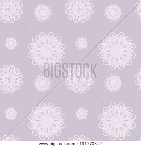 Seamless floral pattern. Vector background in light grayish violet color