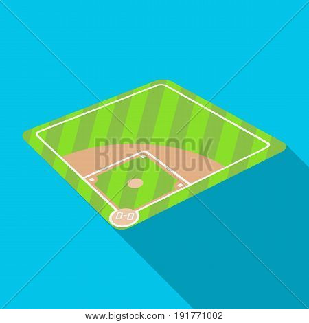 Baseball court. Baseball single icon in flat style vector symbol stock illustration .