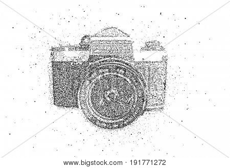 photo camera of particles