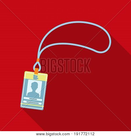 Badge on the tape.Making movie single icon in flat style vector symbol stock illustration .