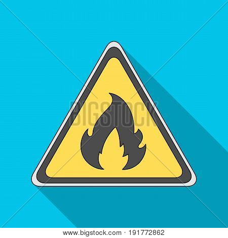 Sign of flammability.Oil single icon in flat style vector symbol stock illustration .
