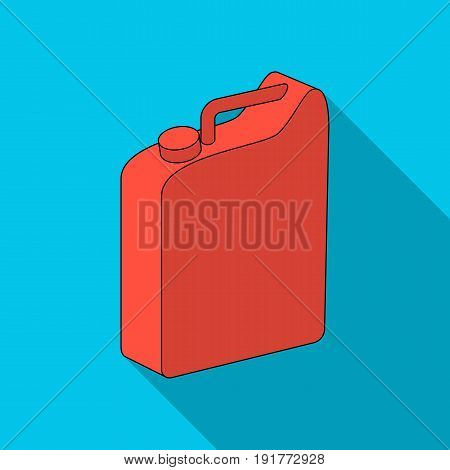 Canister for gasoline.Oil single icon in flat style vector symbol stock illustration .