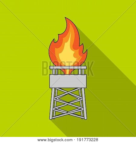 Gas tower.Oil single icon in flat style vector symbol stock illustration .