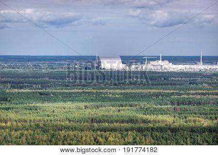 Chernobyl New Safe Confinement in Chernobyl Exclusion Zone Ukraine