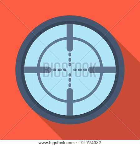 Optical sight.Paintball single icon in flat style vector symbol stock illustration .