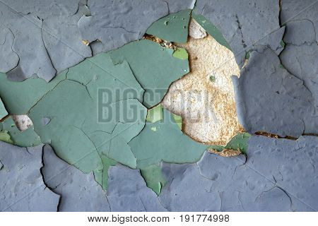 Cracked stucco - grunge background - design flaw