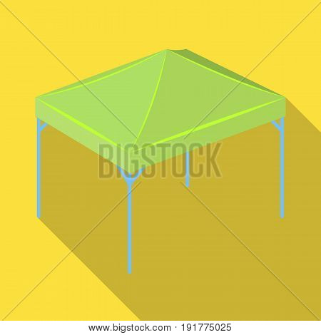 Awning for protection against sun and rain.Tent single icon in flat style vector symbol stock illustration .
