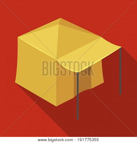 Tent with awning.Tent single icon in flat style vector symbol stock illustration .