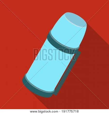 Thermos for tea and coffee.Tent single icon in flat style vector symbol stock illustration .