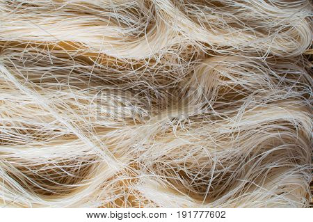 Asian dried glass Noodles Background. Vietnamese cuisine